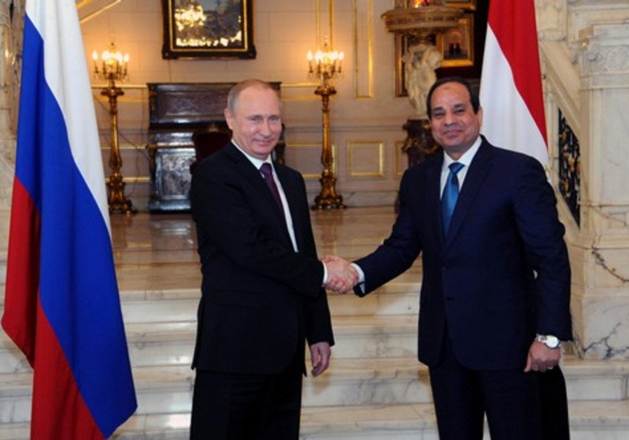 Egyptian President Abdel Fattah al-Sisi, who was completing a three-day visit to Russia, hailed his talks with Russia's Vladimir Putin on October 17
