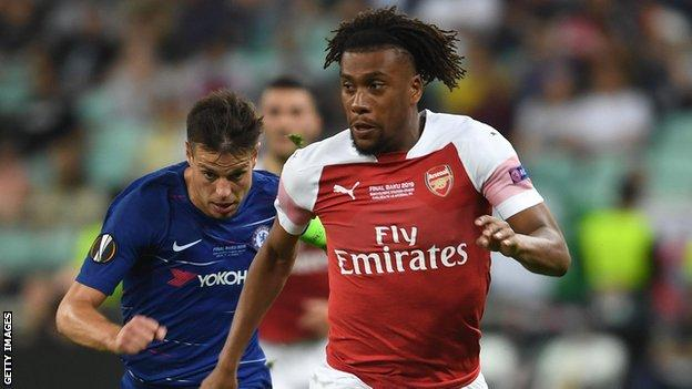 Alex Iwobi leaves Arsenal having made 149 appearances for the Gunners since his debut in October 2015, Credit/BBC