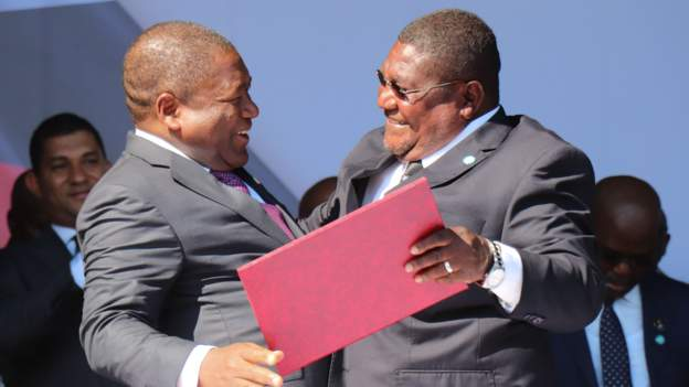 The Mozambique leaders made an announcement about the agreement last week