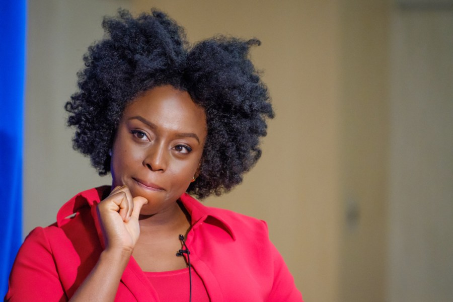 Bestselling author Chimamanda Ngozi Adichie at HCLS Miller Branch