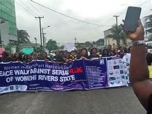 Serial Killing of Women: Women protest in Port Harcourt