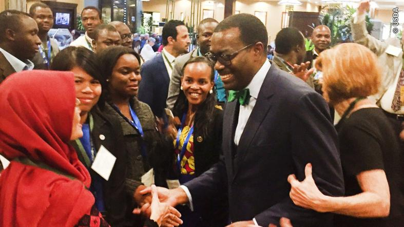 AFDB President, Akinwunmi Adesina with participants at 2019 World Food Prize event