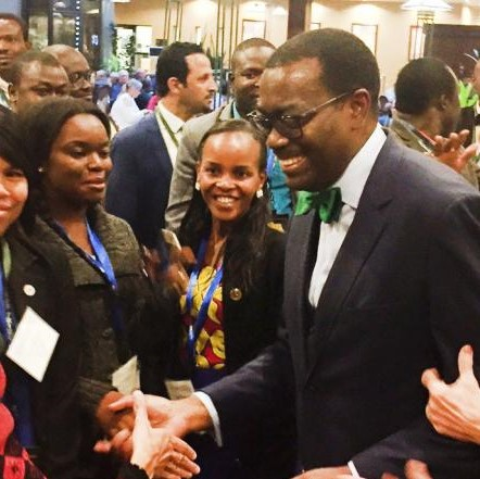 AFDB President, Akinwunmi Adesina with participants at  World Food Prize event