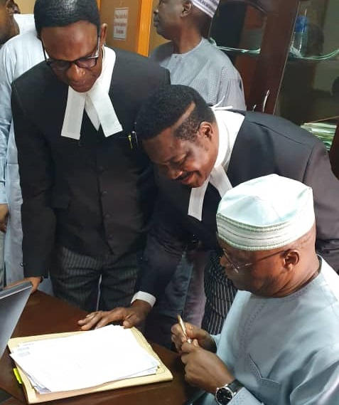 Atiku in Court Over N2.5 bn libel suit against Buhari's Media Aide