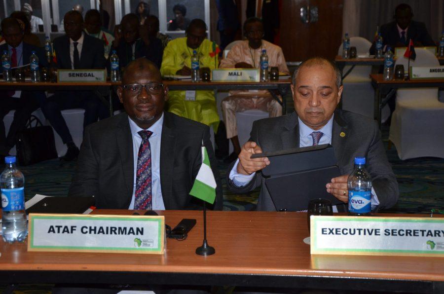 L-R: ATAF Chairman, Nami and ATAF Executive Secretary, Wort