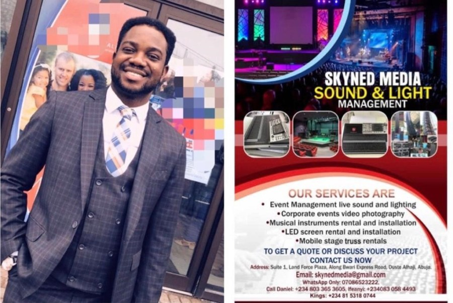 For Light, Sound, Stage and Music equipment rental, you can reach SKYNED MEDIA LIMITED in Abuja Nigeria on e-mail: skynedmedia@gmail.com; WhatsApp: 07086523222