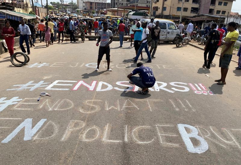 Protests in Nigeria: Police deploy Anti-Riot Personnel Nationwide. Credit: REUTERS/Seun Sanni