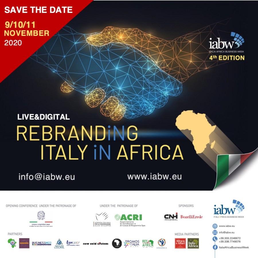 Italia Africa Business Week starts Nov. 9th