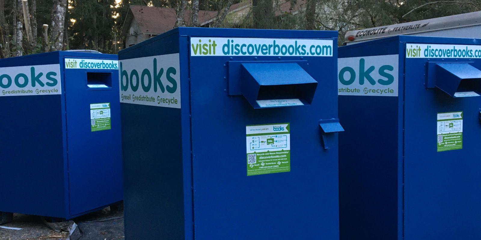 Discover Books Blue Book Bin