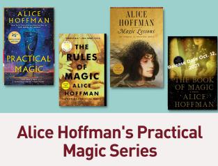 4 Alice Hoffman Practical Magic book covers.