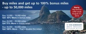 US Airways Bonus Miles