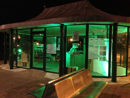 Bundoran tourist office turned green for Paddy's day