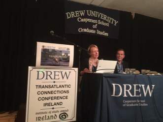 Speaking at the Drew Conference - pic Clare Best