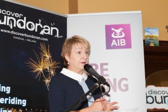 Gaye McGoldrick of AIB Ballyshannon, sponsors of the brochure launch