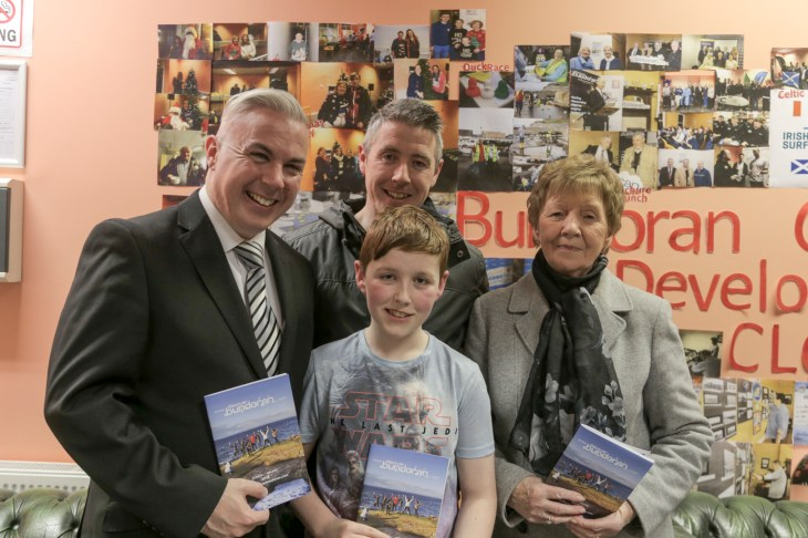 Tourism Officer Shane Smyth with brother David, nephew Lee and mother Marie