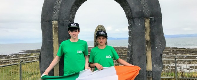 Neil McCarthy and Eoin Lally representing Bundoran Board Riders at Eurosurf Junior in Portugal