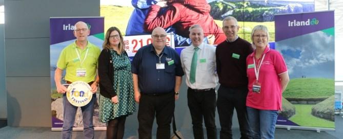 Picture shows Ernan mcGettigan, Maire NiFhearraigh, Barney McLaughlin, Shane Smyth, Seamus Gallagher & Mary McGettigan at CologneBonn Airport