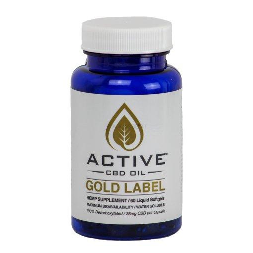 Active CBD Oil Capsules 60 ct