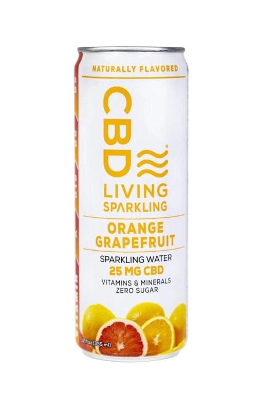 Orange Grapefruit CBD Sparkling Water