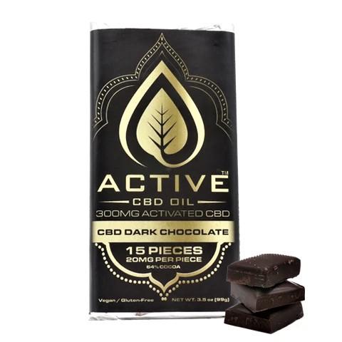 Active CBD Oil Dark Chocolate Bar