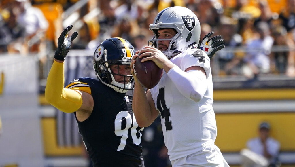 Injuries, miscues pile up for Steelers in loss to Raiders