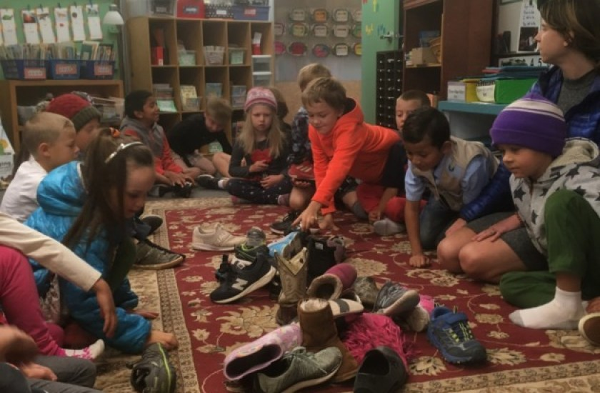 Morning community building! The missing shoe greeting.