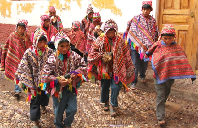 Sacred Valley of the Incas- Children in Traditional dress