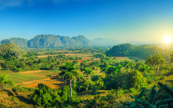panorama of vinales valley in cuba