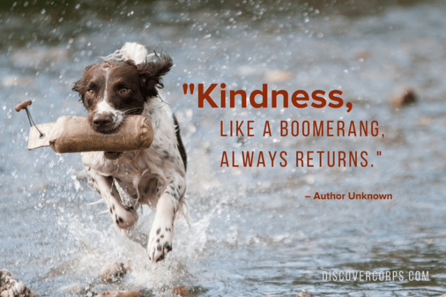 Quotes About Volunteering -Kindness, like a boomerang, always returns.