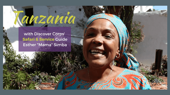 "Interview from Tanzania: Discover Corps Guide Esther ""Mama"" Simba"