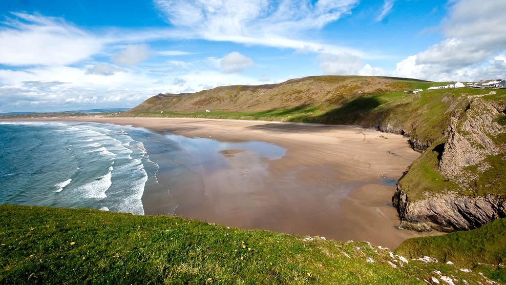 wales best beaches - rhossili