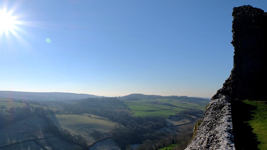 Views from Carreg Cennen Castle