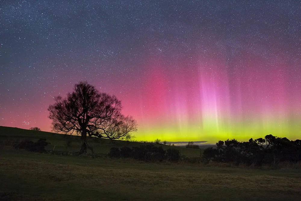 Northern Lights in the Brecon Beacons