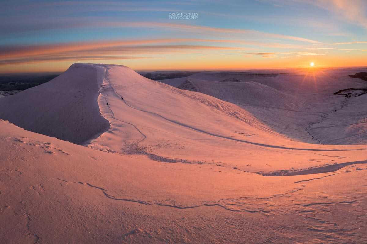 Winter Sunrise over Pen y Fan, Brecon Beacons