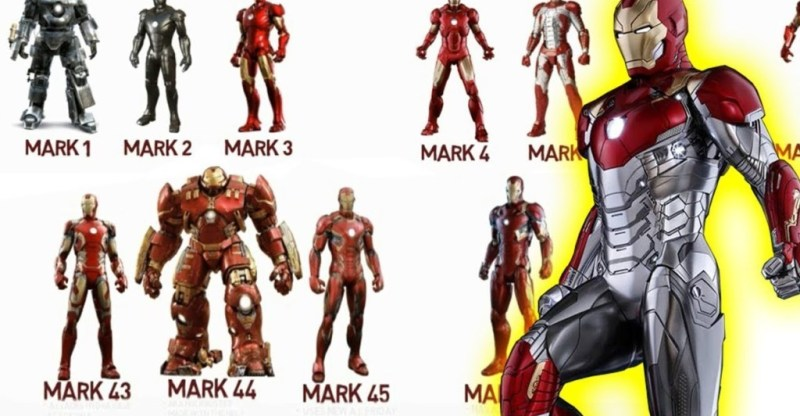 Iron Man Suits in Endgame