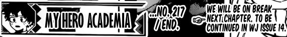 Boku no Hero Academia chapter 218