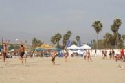 estero beach volleyball action
