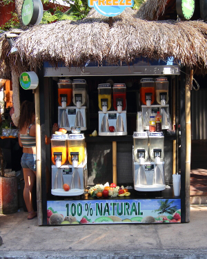 100 percent natural fruit juices freshly squeezed