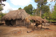This solar home is part of a Ethnographic Exhibition which also includes an apiary, vegetable garden and medicinal plants that were used to supplement the family economy.