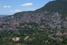 The village of Taxco was built on a hillside and is also one of Mexico's pueblo magico's