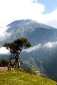 Casa de Arbol and Swing at the end of the world. This swing sails out over a steep cliff just below the Tungurahua Volcano