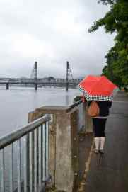 Looking back at the Hawthorne bridge