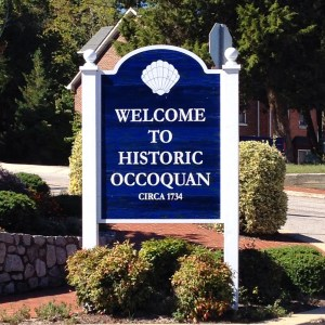 Welcome to Occoquan sign