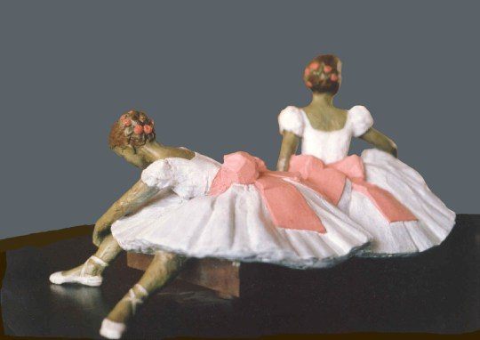 Felcity Foote and Sabina Cartier (Degas Dancers at Rest)