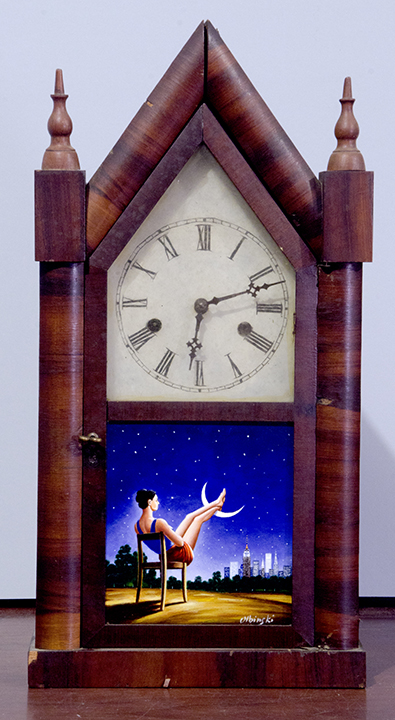 Third Dimension of Time (antique clock)