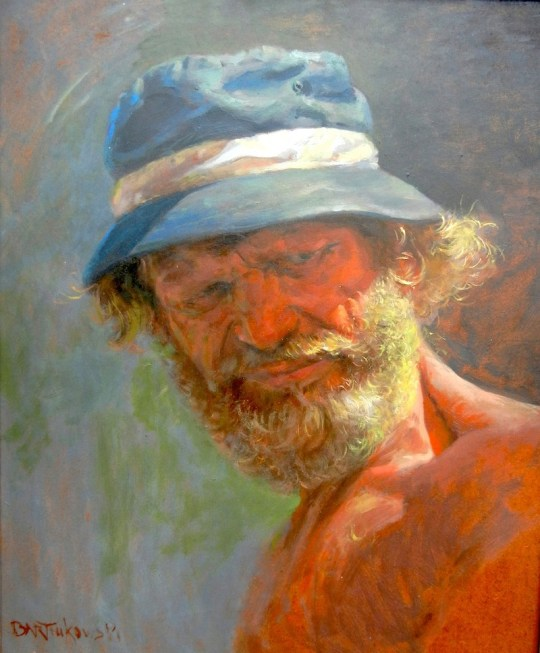Self-portrait in Blue Hat