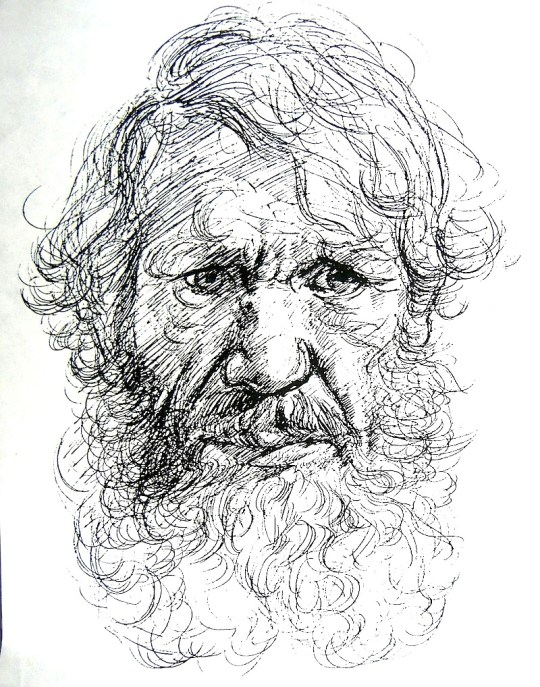 Self-portrait (as Leonardo da Vinci)