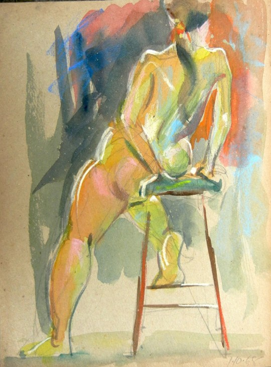 Nude (on stool)