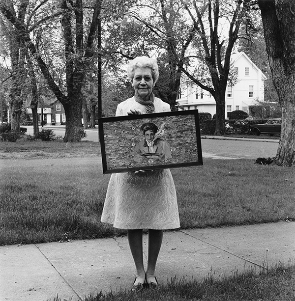 Woman with Girlhood Collage, Southington, Connecticut