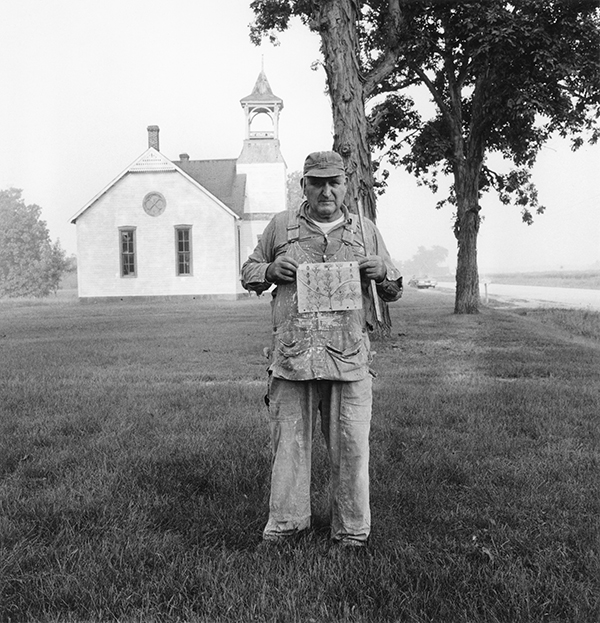 House Painter with Tree Drawing, Shiloh Church, Carlinville, Illinois